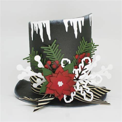 hat decorations paper snowman hat pazzles craft room