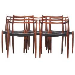 teak dining chairs by j l moller at 1stdibs