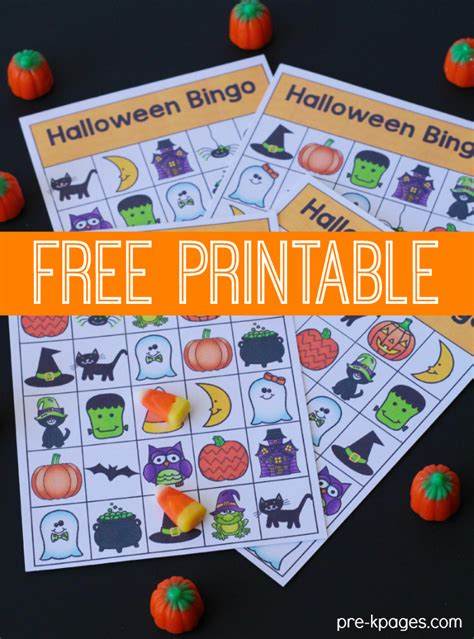 printable halloween games for preschoolers printable halloween bingo game