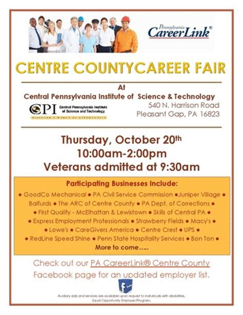 pa careerlink job fair state college pa calendar pa careerlink 174 centre