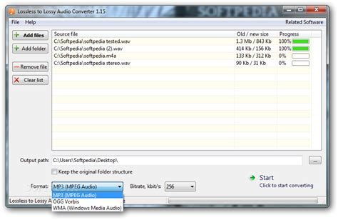 format audio lossless lossless to lossy audio converter download