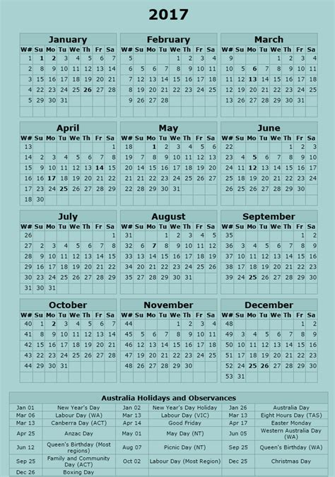 free printable calendar 2017 australia calendar zone free printable monthly and yearly