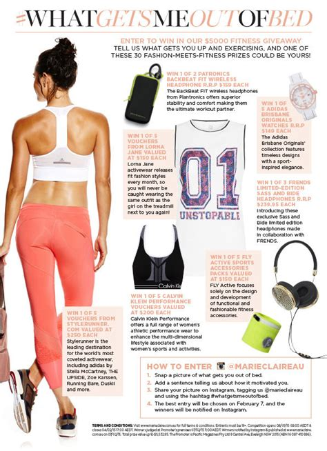 Marie Claire Giveaways - marie claire win 5 000 fitness giveaway with whatgetsmeo australian
