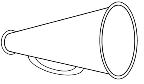 cheer megaphone template free megaphone clipart pictures clipartix
