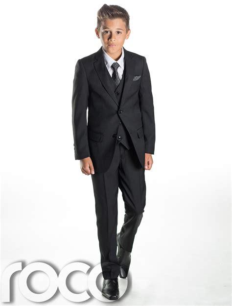 black suit boys black suit page boy suits slim fit suit prom suits