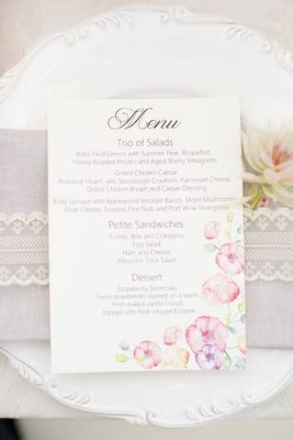 creative bridal shower menu vintage inspired outdoor bridal shower with