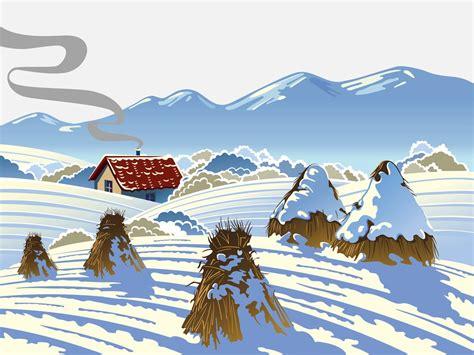 winter scenery vector art graphics freevectorcom