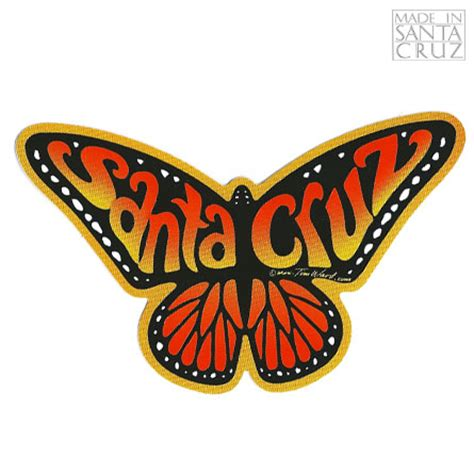 Sticker Plat California Santa decal santa monarch butterfly sticker orange by tim ward