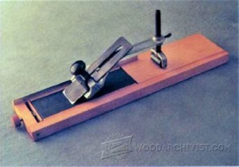 chisel  plane iron sharpening jig plans woodarchivist