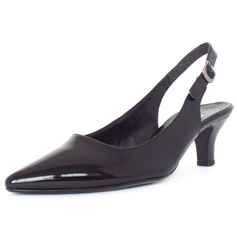 gabor hume s pointed toe kitten heel sling back