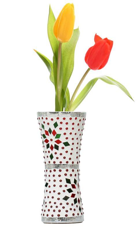 Decor Vases Wholesale by Wholesale 7 7 Inch Mosaic Glass Vase In Bulk Handmade