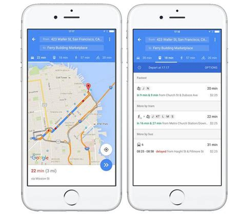 google maps mobile full version walk or bus google maps for ios now shows fastest option