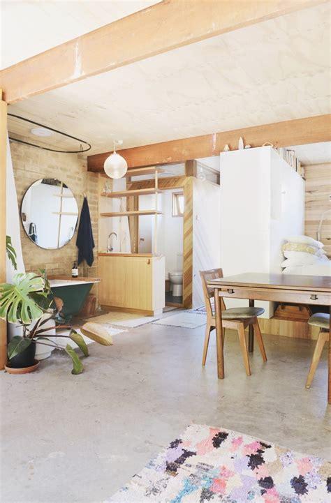 woman converts backyard garage  studio