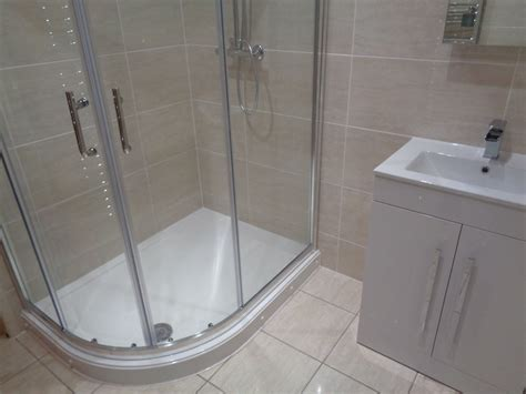 bath then shower remove corner bath and replace with curved shower