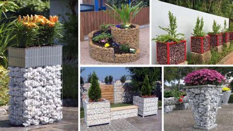 modern gabion planters  ideas youtube