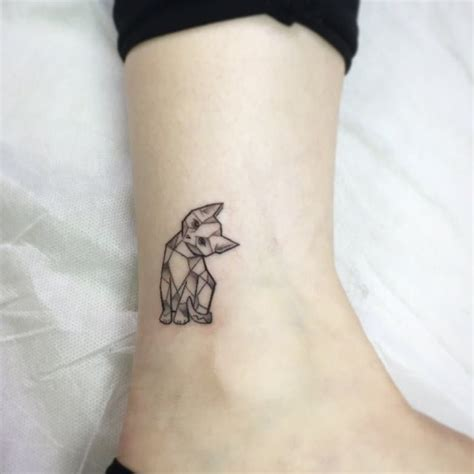 original sin tattoo geometric cat original design and by kaiser