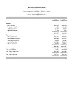 non profit financial statement template excel fsm npo financial statement masters