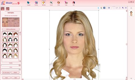 virtual hairstyles design studio hair master 5 virtual hairdresser on your computer