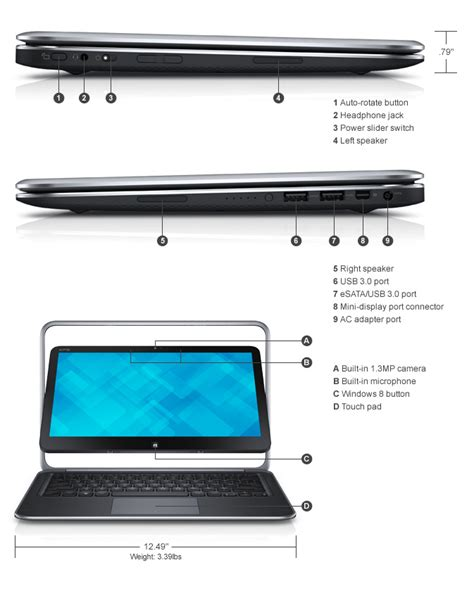 Dell Xps 12 Ultrabook Touch dell xps 12 high performance flip touch screen laptop specifications and pictures guru