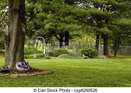 Backyard Photography by Stock Image Of Backyard Landscape Backyard Landscape
