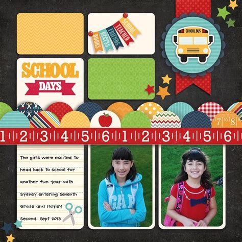 scrapbook layout for school picture pin by lisa hambrick on scrapbooking ideas pinterest
