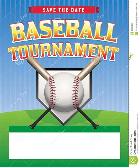 Baseball Tournament Illustration Stock Vector Image 43962094 Free Baseball Tournament Flyer Template