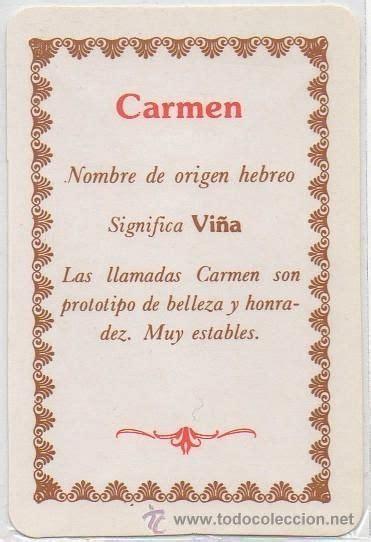 imagenes de el nombre carmen carmen nombres para ni 241 itas y su significado pinterest