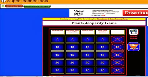 The Third Grade Zoo Jeopardy Game Maker Jeopardy Generator