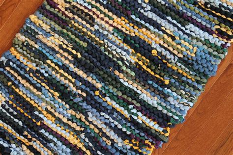 T Shirt Rag Rug by Rag Rug T Shirt Rug Upcycled Knits By
