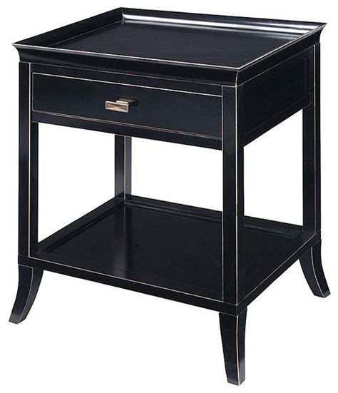 Side Table Onyx Finish Serving Tray Accent Table Contemporary