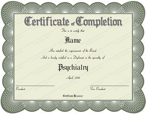 free printable medical award certificate template