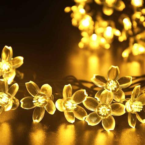 christmas tree flower lights solar christmas flower fairy string lights 21ft 50 led