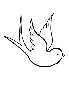 printable coloring page of a dove image