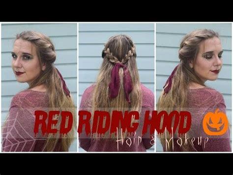 hood haircuts red riding hood hair makeup youtube
