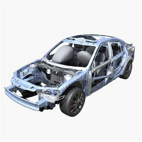 auto gestell 3d car frame 02 cgtrader
