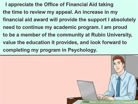 Financial Aid Independent Letter