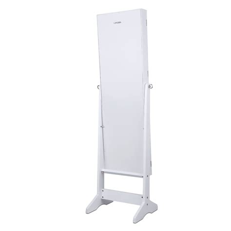 standing mirror jewelry armoire white free standing lockable mirrored jewelry armoire cabinet