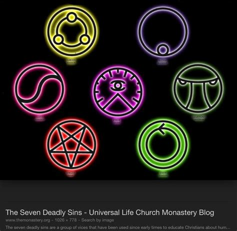 seven deadly sins symbols google search sins pinterest