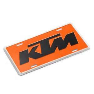 Garage Shop Designs Aomc Mx 2012 Ktm Metal License Plate