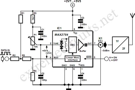 maxim vco integrated circuit vco 1 2ghz with linear modulation electronic circuits schematics diagram free electronics