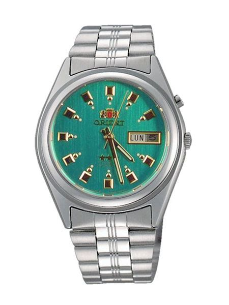Orient Automatic Watch with Green Dial and Stainless Steel Bracelet #EM6Q00EN