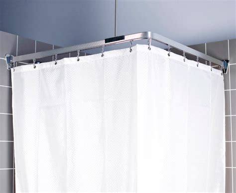 shower curtain track euroshowers bendi track 300cm shower curtain track chrome