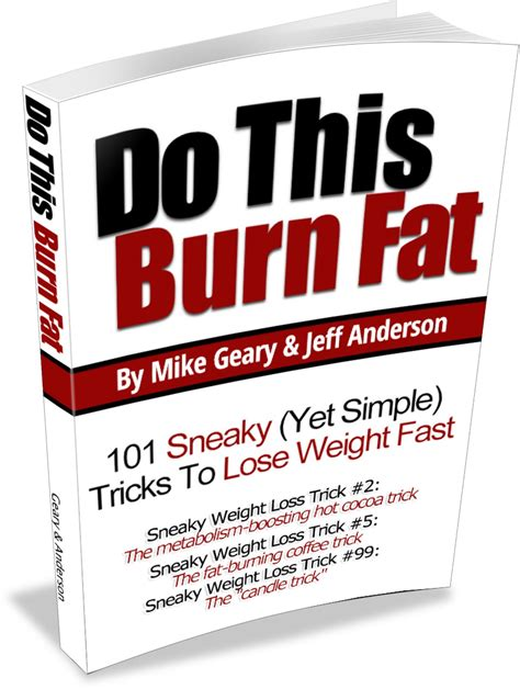 the book of big weight loss books do this burn 101 sneaky yet simple weight loss