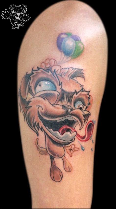 animal tattoo bicep crazy dog animal tattoo on bicep tattooshunt com