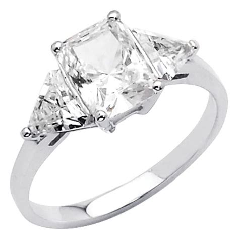 cubic zirconia wedding rings