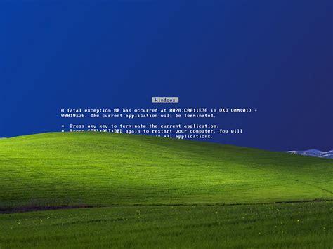 broken microsoft windows xp bliss wallpaper know your meme windows error wallpaper wallpapersafari