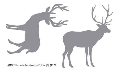 reindeer silhouette template reindeer templates cut out new calendar template site