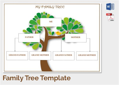 family tree template 37 free printable word excel pdf