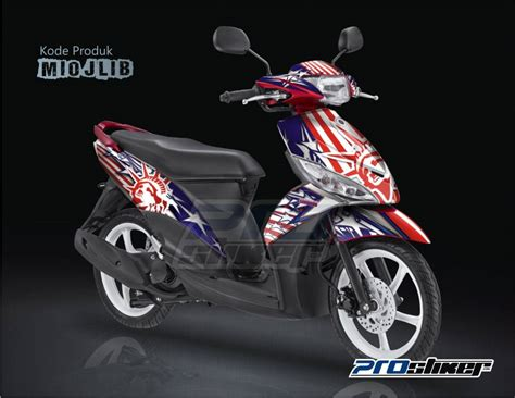 stiker motor mio j sporty warna merah striping modif mio