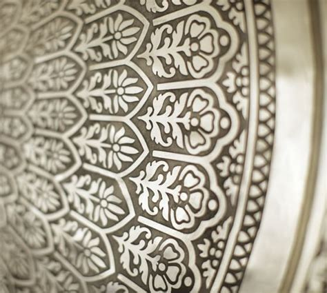 Decorative Metal by Decorative Metal Disc Silver Pottery Barn
